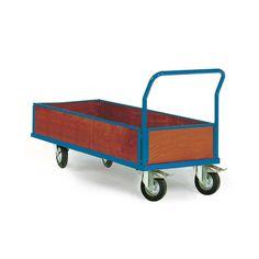 GTARDO.DE:  Plattformwagen mit Bordwand, Ladefläche 1500 x 700 mm, 500 kg, Luftreifen 452,00 €