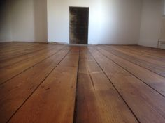 Oiled finished pine floor with darker stain