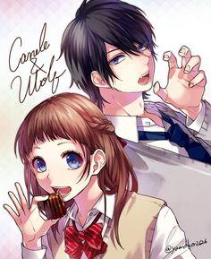 Candle x Wolf Honeyworks Manga Anime, Anime Amor, Anime Couples Manga, Cute Anime Couples, Anime Guys, Koi, Anime Style, Vocaloid, Honey Works