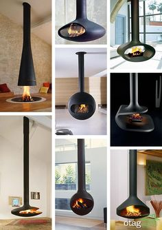 We've fallen in love with the suspended fireplace . It is modern, it is technologically advanced and, most important, it is very inviting. A beautiful sculpture that creates a. ideas log burner Suspended Fireplace - hot new trend Suspended Fireplace, Hanging Fireplace, Gas Fireplace, Fireplace Ideas, Floating Fireplace, Vintage Fireplace, Freestanding Fireplace, Vintage Industrial Decor, Industrial Interiors