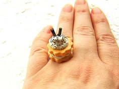 Sandwich Cookie Ring by SouZouCreations on Etsy, $12.50