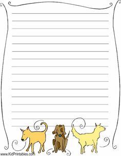 printable dogs stationery