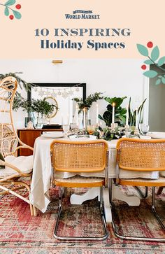 Feeling uninspired? Take a peek at 10 of our favorite holiday spaces! #worldmarket #holidaydecor Festival Decorations, Table Decorations, Shopping World, Affordable Home Decor, World Market, Favorite Holiday, Spaces, Pillows, Christmas Ornaments