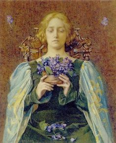 Violets, by Henry Meynell Rheam 1904
