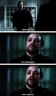 [gifset] 10x22 The Prisoner #SPN #Sam #Crowley