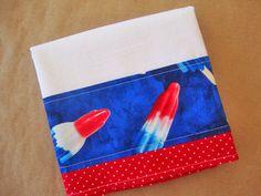 Flour Sack Towel  Fabric Trimmed Dish Towel  Lint by TheTamedTowel