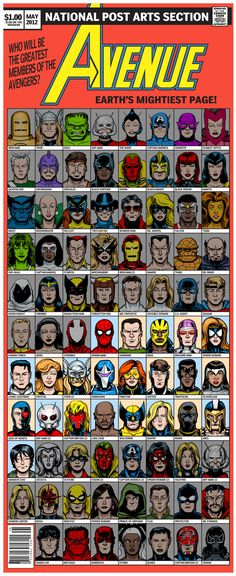 87 members of the Avengers...yes i am a nerd...but it sooo fun!!!