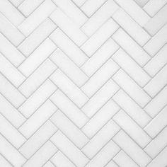 Thassos Herringbone Polished Marble Mosaic – 12 x 12 – 100105022 - Marble Ideen Honed Marble, Marble Mosaic, Mosaic Tiles, Tiling, Marble Bath, Hexagon Tiles, Cutting Edge Stencils, Stone Tile Flooring, Stone Tiles