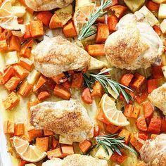Sheet Pan Roast Chicken Dinner - Fitnessmagazine.com