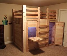 Kids Loft Bed Plans – The Bed Fort   Bed Forts   Pinterest   Loft ...