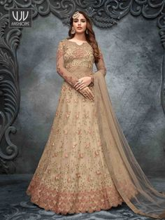 Rs6,150.00 Long Choli Lehenga, Silk Lehenga, Silk Dupatta, Costumes Anarkali, Anarkali Suits, Designer Anarkali, Churidar, Salwar Kameez, Diwali