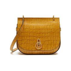 Amberley Satchel Gold Ochre Croc Print Mulberry Bag ee1036d51bfca
