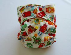 robot pocket style cloth diaper. $19.00, via Etsy.