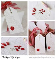 Doiley Gift Tags | A Spoonful of Sugar