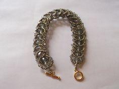 Beaded crystal bracelet by VictorianPunkJewelry on Etsy, $30.00