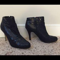 Black Sequin Shoes