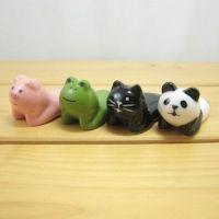 데꼴 엎드려있는 젓가락 받침 (4종) ※ 일본 예쁜 마스코트 키친 수저 받침대