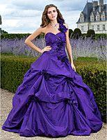 Fiesta de baile/Fiesta formal/Quinceañera/Vestidos de 18 años Vestido - Púrpura Corte Evasé/Corte A/Corte Princesa Hasta el Suelo -Solo