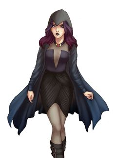 Raven Roth fanart found on tumblr. I don't remember the artist's name, I'm sorry. Goth chick is goth chic.