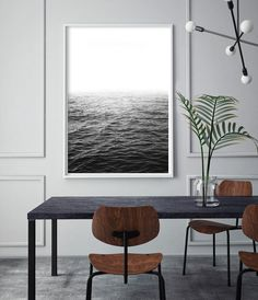 Black and White Ocean Photography Wall Art ______________________________________________________ Welcome to Little Ink Empire. Here youll find a range of unique art prints inspired by the latest interior design trends, perfect for adding that little extra-something to your home