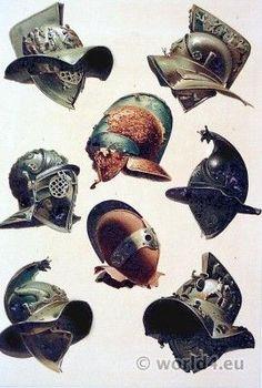 Roman Empire -                                                                                          Ancient Roman Gladiator helmets