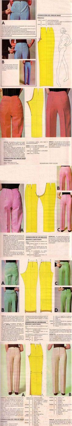 Шьем сами: Устранение дефектов брюк