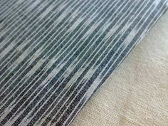 Ikat Cotton Fabric Gray  White  Indian Authentic Patola by RaajMa