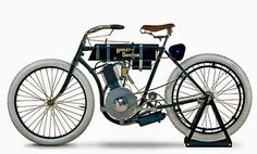 ... Gas-Powered Engine Orient-Aster 1901 Single <b>First Harley Davidson</b>