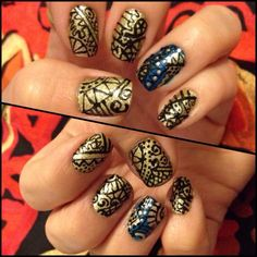 Original nail art! Love this design