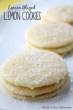 I may have a slight obsession with anything raspberry and anything lemon! These cookies are no exception! The cookie themselves have a slight lemony taste while the glaze has a tarter tang that blends the Cookie Desserts, Just Desserts, Cookie Recipes, Delicious Desserts, Dessert Recipes, Yummy Food, Fun Food, Lemon Cookies, Yummy Cookies