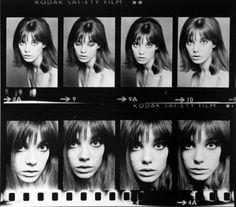 Jane Birkin contact sheets,1965.