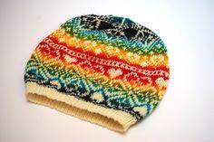 Sapi01_small2 Knitted Hats, Beanie, Socks, Rainbow, Knitting, Projects, Rain Bow, Log Projects, Rainbows