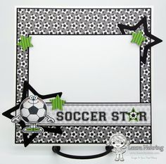 6x6 Scrapbook Layout using Your Next Stamp Sports Fanatics Two stamp set