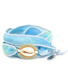 Isla Ibiza Ocean Wave Zijde Wikkel Armband ♡ available at www. Silk Wrap Bracelets, Ocean Waves, Beautiful Hands, Ibiza, Belt, Gemstones, Summer, Accessories, Wristlets