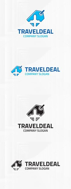 The Travel Deal Logo Template A modern and professional logo featuring a price tag with an airplane inside for many kinds of travel related business. Best Resume Template, Brochure Template, Logo Templates, Flyer Template, Airport Logo, Adventure Quotes Wanderlust, Creative Brochure, Great Logos, Travel Logo
