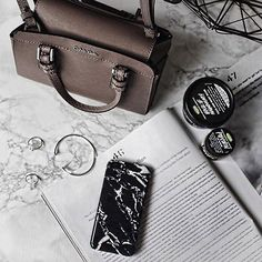 Sunday Essentials!  Photo by @emilycocklin Thanks!  #madotta #marble #iphonecase