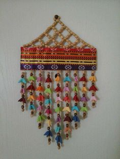 Macrame Wall Hanging Diy, Wall Hanging Crafts, Diwali Diy, Diwali Craft, Jute Crafts, Bead Crafts, Hobbies And Crafts, Diy And Crafts, Textiles