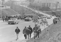 Participants walking uphill at the Miles for Millions fundraiser. On November 3, 1967, some 17,000 people participated in Hamilton, Ontarios first Miles for Millions March. By the end of the day, more than 10,000 of them had finished the 35 mile (56.32 km) route, raising some 192,000 dollars for six charities in Africa. I actually did this with a gf of mine for several years-Gloria