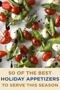 50 of the Best Holiday Appetizers to Serve This Season Best Holiday Appetizers, Holiday Fun, Holiday Recipes, Marinated Olives, Bacon Jam, Holiday Side Dishes, Christmas Snacks, Crab Cakes, Side Dish Recipes