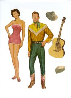 Roy Rogers and Dale Evans Paperdolls