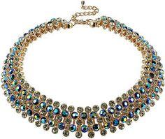 Topshop Premium Green Rhinestone Collar