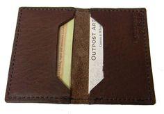 Leather+wallet+business+card+holder+minimalist+wallet