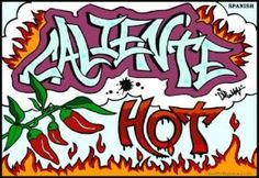 Coliente/ hot picture from Digame con colores spanish language coloring book