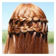 Braids / Amazing cute waterfall double braid