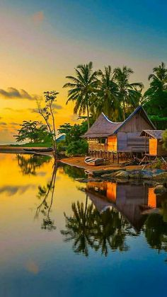 An evening at Temajuk Indonesia by Edanan Taiban . Relax with these backyard landscaping ideas and landscape design. Nature Pictures, Cool Pictures, Beautiful Pictures, Beautiful World, Beautiful Places, Magic Places, Cottage Art, Jolie Photo, Nature Wallpaper