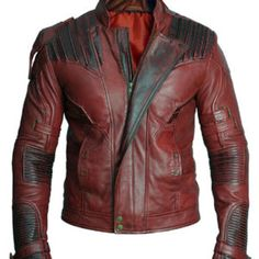 Bringing you a contemporary of class crafted and brilliant Star Lord Jacket from Guardians of the Galaxy by Chris Patt. Get yourself at reasonable price. Star Lord Costume, Star Lord Cosplay, Cosplay Armor, Men's Leather Jacket, Leather Jackets, Guardians Of The Galaxy Vol 2, Look Cool, Online Shopping Stores, Real Leather