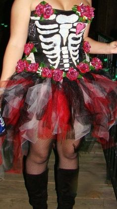 Day of the Dead costume on Etsy, $100.00