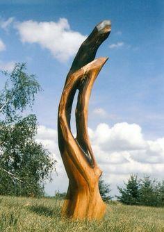 Hodiny, zrcadla, pendlovky, sochy, skulptury, okrasné rostliny - Fotoalbum - Zahrada - Skulptura smrk 2