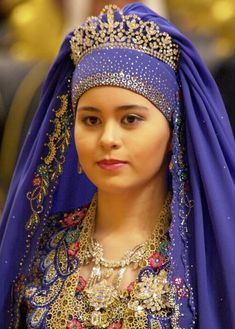 Princess Sarah of Brunei in her wedding tiara.
