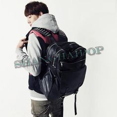 59.99$ Studded Black Backpack Rucksack Faux Leather Gothic Bag (Large)